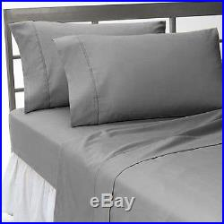 1000tc Elephant Grey Solid 100%cotton All Uk Size Fitted/sheet/duvet Set/skirt