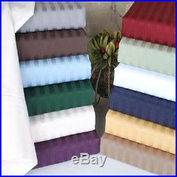 1000Thread Count 100%Egyptian Cotton All Bedding Item UK Sizes New Striped Color