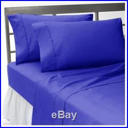 1000 TC Egyptian Cotton Duvet With Bedding Items Royal Blue Select Size & Item