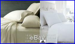 1000 Thread Count Egyptian Cotton Duvet Cover Bed Set 4pc Hotel Quality Premium