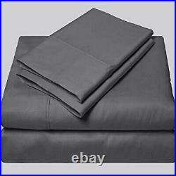 1000 Thread Count Grey Solid Egyptian Cotton Uk Bedding Sheet Set/duvet/fitted
