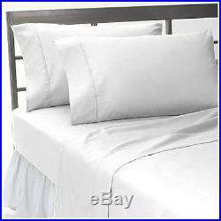 1000 Thread Count New Egyptian Cotton Complete Uk Bedding Collection White Solid