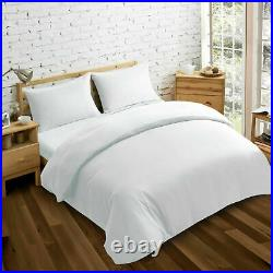 1000 Thread Count White Solid Egyptian Cotton Uk Bedding Sheet Set/duvet/fitted