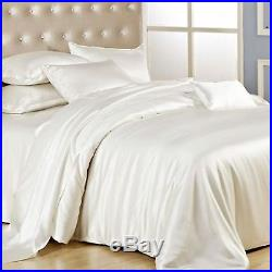 100% Natural SILK Duvet + 2 Pillow Cases Ivory/Pearl Colour Luxury Bed Cover Set