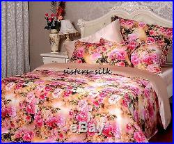 100% Silk Duvet Cover Set Size Small Double 19 Momme Printed Seamless Nude JHF13