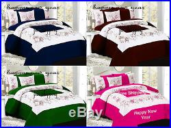 1500TC Embroidery Egyptian Cotton Duvet Cover set available in different sizes