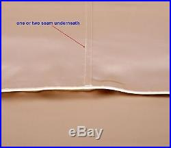 16 Momme 100% Pure Silk Duvet Cover Sheet Pillow Case Seamed Beige All Size