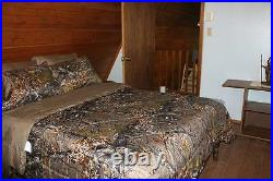 17 PC NATURAL CAMO SET! FULL SIZE SHEETS COMFORTER with2 CURTAIN SETS CAMOUFLAGE