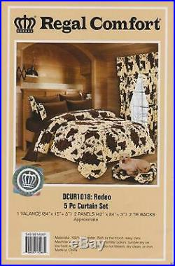 17 Pc Full Size Chocolate Rodeo Comforter And Sheet Set Bedding W 2 Curtain Sets