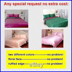 19mm 100% Real Mulberrry Silk Duvet Cover Sheets Pillowcase & Bed Linens Set