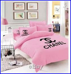 1 X Pink King Size Or Double Bedding Set 4pcs Very High Quality Uk Seller