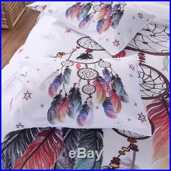 2/3pc. Bohemian Feather Single Double Queen Queen King Duvet Cover Bed Set