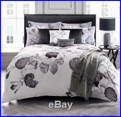2 Piece Karl Lagerfeld Senna Floral Lilac Grey Double Duvet Cover Set