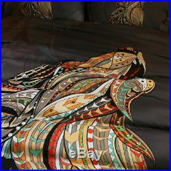 3pc 4pc Tribal Wolf US King Queen Full Twin 400TC Duvet Cover Comforter Set