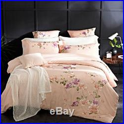 4/6-Piece Luxury Egyptian Cotton Bed Sheets Comforter Cover / Duvet Cover Set