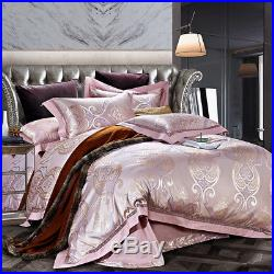4-Piece MAJESTY Luxury Rose Gold Comforter Bed Linen Sheets Duvet Cover Set