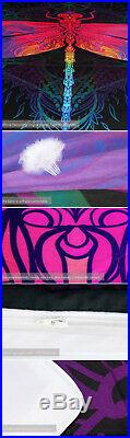 4pc. Colorful Dragonfly Mandala Bedding Twin Full Queen King Duvet Cover Set