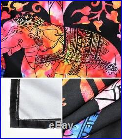 6pc. Colorful Elephant Boho Style Twin Full Queen King Size Duvet Cover Set