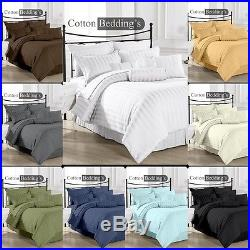 800 1000 TC 100%Egyptian Cotton Combo Bedding UK Double Size Hotel Striped Color