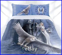ANNE STOKES MIDNIGHT MESSENGER Double Bed Size Doona Duvet Quilt Cover Set