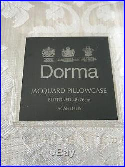 BNWT £250 Dorma Jacquard Damask Duvet Set Double Quilt 4 Pillowcases Lampshade