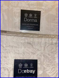 BNWT £285 Dorma Jacquard Damask Double Duvet Set Quilt X4 Pillowcases Lampshade