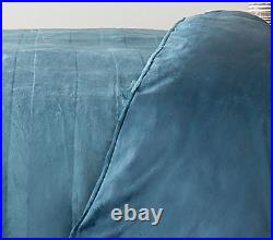 BNWT Cozee Home Set of 2 Faux Mink & Velvetsoft Embossed Duvet Sets Silver Grey