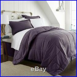 Bedding Set Bed in a Bag with Double-Brushed Microfiber Full Size, Purple(8-Piece)