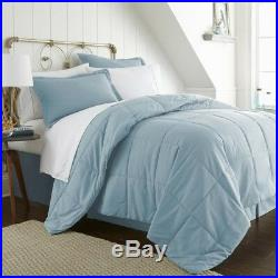 Bedding Set Bed in a Bag with Double-Brushed Microfiber King Size, Aqua (8-Piece)