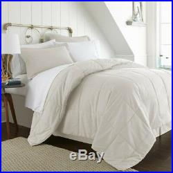 Bedding Set Bed in a Bag with Double-Brushed Microfiber Queen Size, Ivory(8-Piece)