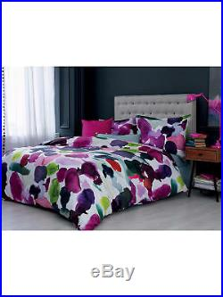 Bluebellgray Abstract Cotton Duvet Cover and Pillowcase Set Size Double