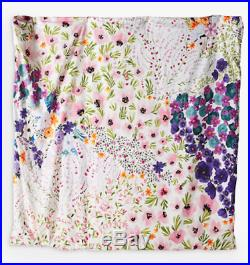 Brand New Anthropologie Posey Floral Double Duvet Cover and Two Pillow Cases Set