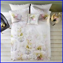 Brand New Ted Baker Double Duvet Cover And Pillows Floral Gardenia Bedding Set