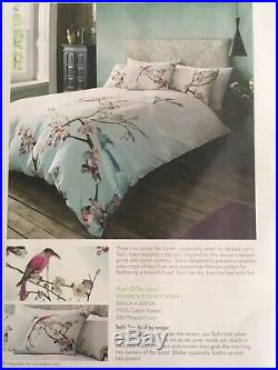 Brand New Ted Baker Flight Of The Orient Double Duvet Set & Pair Of Pillow Cases