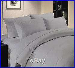 British Choice Bedding items- Silver Gray Solid Egyptian Cotton 600 800 1000tc