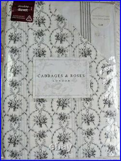 Cabbages & Roses Julia Double Duvet Cover & 2 Oxford Pillowcases Bedding Set New