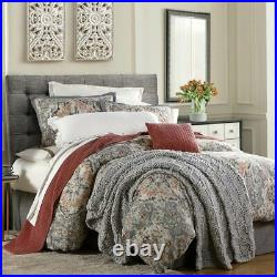 Carmen Gray Rust Natural Sage Medallion Country Cottage Full 3-Piece Bed Set