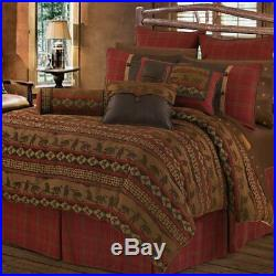 Cascade Lodge Chenille Rustic Bear Western Country Full 5-Piece Bed Set