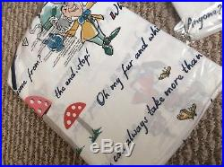 Cath Kidston Disney ALICE IN WONDERLAND Double Duvet Cover Set with extra pillow