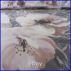 Catherine Lansfield Dramatic Floral Grey/Pink Duvet Covers Sets Free P&P