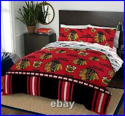 Chicago Blackhawks Full Bed in a Bag with Additional Full Sheet Set