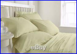 Comfort Bedding 800 1000 1200 1500 TC Ivory Solid 100 % Egyptian Cotton Sheets