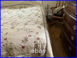 Croscill Rose Garden 4pc Comforter Embroidered Set NEW Oversized & Overfilled
