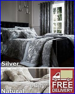 Crushed Velvet Duvet Cover Set Or Throw Or Curtains Or Cushion Or Pillowshams
