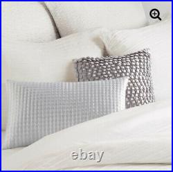 DKNY City Pleat Double Duvet Cover And 2 Matching Pillowcases New White
