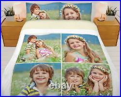 Digital Photo Personalized Printed Duvet Cover Bed Set Single, Double, King, S-King