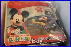 Disney Mickey Mouse Clubhouse 4 Piece Full Size Comforter Set Pillowcases Sheet