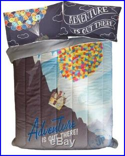 Disney UP ADVENTURE IS OUT THERE 3pc FULL Bed Set (F/Q Comforter & 2 Pillowcase)