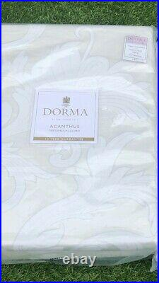 Dorma Double Duvet Cover And 4 Pillow Cases Set New Textured Jacquard Acanthus