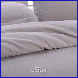 Double Linen Stone Washed Linen Basic Style Fashion Quilt Flax Duvet Cover Set